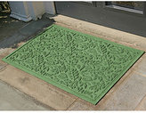 Fall Leaves WaterGuard Doormat, Light Green