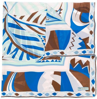 Emilio Pucci Abstract Print Silk Scarf