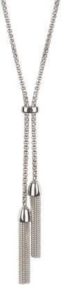 Bob Mackie Box Link Lariat Tassel Necklace