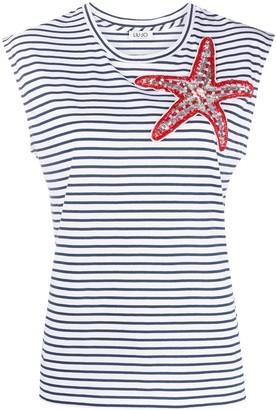 Liu Jo Starfish Horizontal-Stripe Top