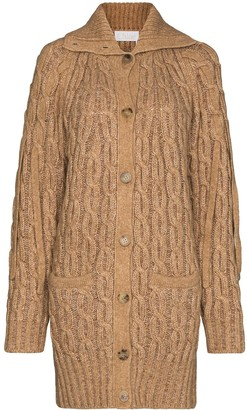 Chloé Cable-Knit Buttoned Cardigan