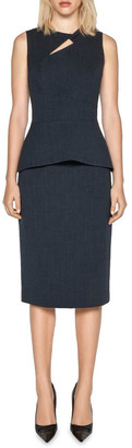 Cue Textured Crepe Keyhole Top