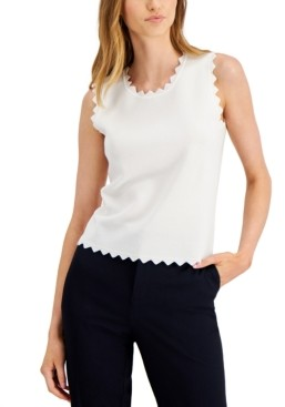 Bar III Scalloped Sweater, Created for Macy's