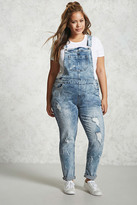 Forever 21 FOREVER 21+ Plus Size Acid Washed Overalls