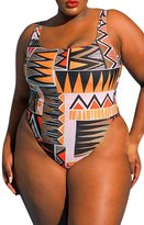 Viottis Women's Classic Printed One-piece Swimsuit Monokini 3XL