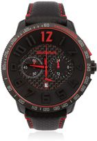 Tendence Carbon Fiber Chr Black & Red Watch