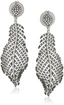 Freida Rothman Baroque Blues Pave Leaf Drop Earrings, Sizes
