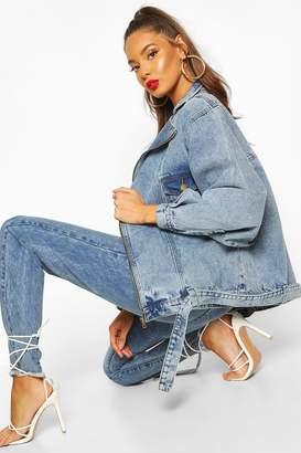 boohoo Overszied 80's Style Denim Jacket