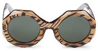 Roberto Cavalli 53MM Injected Geometric Sunglasses