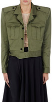 Balenciaga Women's Structured-Shoulder Cotton Boxy Jacket