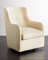 Horchow Cali St. Clair Gold Swivel Chair