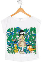 Little Marc Jacobs Girls' Safari Print Short Sleeve Top