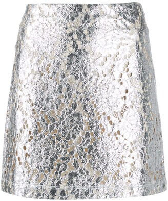 ANAÏS JOURDEN Metallic Mini Skirt