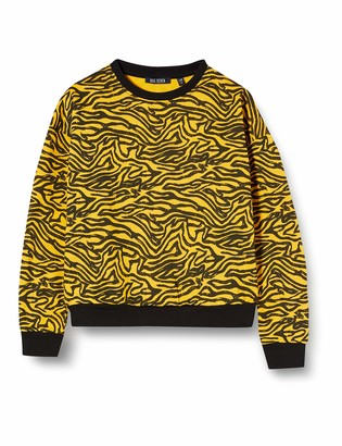 Blue Seven Girl's Madchen Sweatshirt Mit Animal-Print Long Sleeve Top