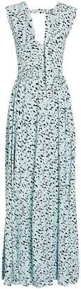 Proenza Schouler Inky Leopard Printed Gown