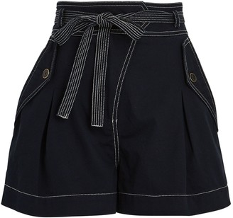 Ulla Johnson Oscar Belted Cotton Shorts