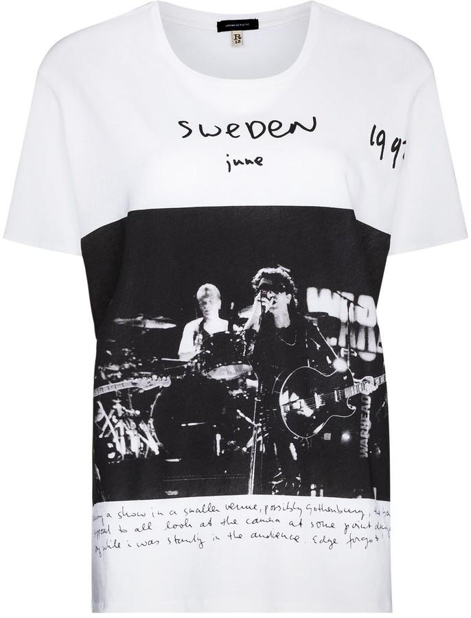 R 13 x U2 Sweden Boy crew-neck T-shirt