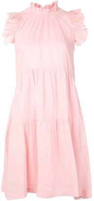 Sea Ruffle Sleeveless Mini Dress