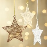 Crate & Barrel Tinsel Star Ornaments