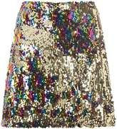 Dorothy Perkins Gold Sequin Mini Skirt