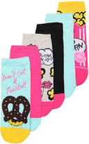 Betsey Johnson Women's Pretzel Women's No Show Socks - 6 Pack