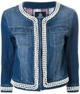 GUILD PRIME faux pearl trim denim jacket