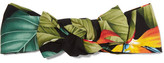 Jennifer Behr Rosie Printed Satin Headband - Black
