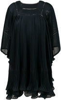 Chloé pleated voluminous dress - women - Silk/Polyester - 36