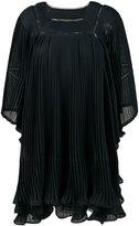 Chloé pleated voluminous dress - women - Silk/Polyester - 38