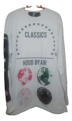 Hood by Air White Cotton Knitwear & Sweatshirts