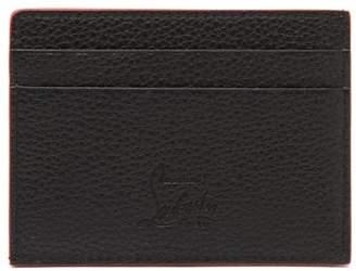 Christian Louboutin Kios Spiked Leather Cardholder - Mens - Black