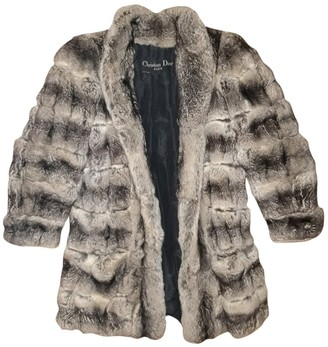 Christian Dior Grey Chinchilla Coat for Women Vintage