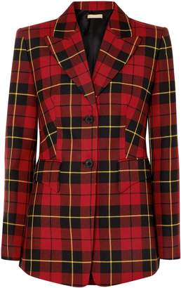 Michael Kors Checked Wool-twill Blazer