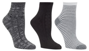 Cuddl Duds Women's 3pk Mid-Weight Ankle Cut Socks, Online Only