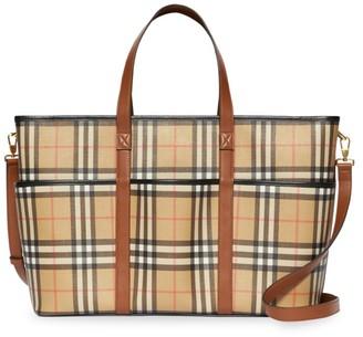 Burberry Parker Vintage Check Diaper Bag