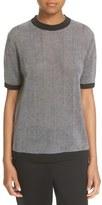 DKNY Stripe Knit Short Sleeve Top