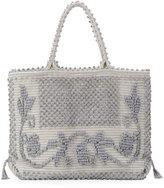 Antonello Martis Fiore Woven Tote Bag, Gray