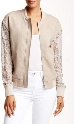 Thomas Wylde Pine Lace Sleeve Jacket