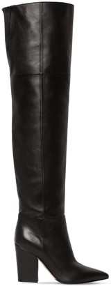 Sergio Rossi 90mm Sergio Over-The-Knee Leather Boots