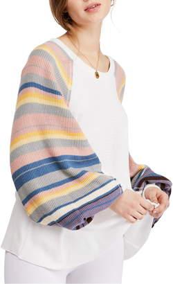 Free People Rainbow Dreams Knit Top