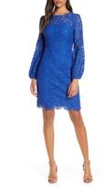 Eliza J Long Sleeve Lace Sheath Dress