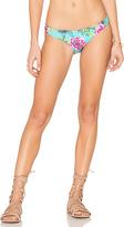 Pilyq Reversible Basic Teeny Bikini Bottom in Blue. - size L (also in M)