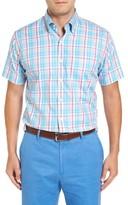 Peter Millar Men's Shoreline Plaid Short Sleeve Sport Shirt