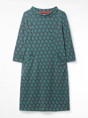 White Stuff Rene Cowl Jacquard Dress