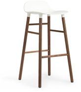 Normann Copenhagen Form Barstool H75cm White/Walnut