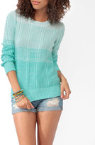 Forever 21 Monochromatic Mix Knit Sweater