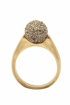 House Of Harlow Diamond Orb Ring with Crystal Pave in Gold