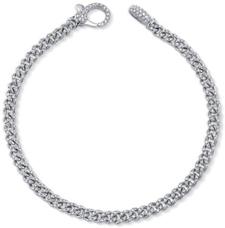 Shay Baby Pave Diamond Link Bracelet - White Gold