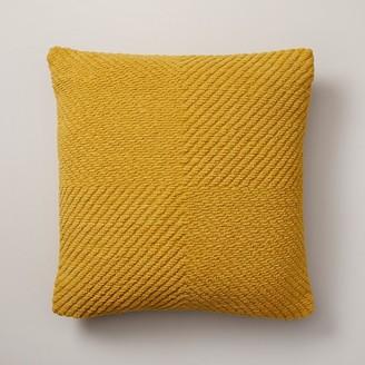 "Oui Woven Chenille Pillow Cover Honey 18"" X 18"""