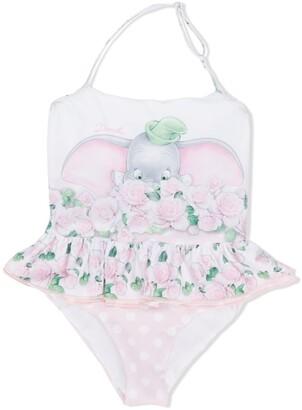 MonnaLisa Dumbo print ruffle skirt swimsuit